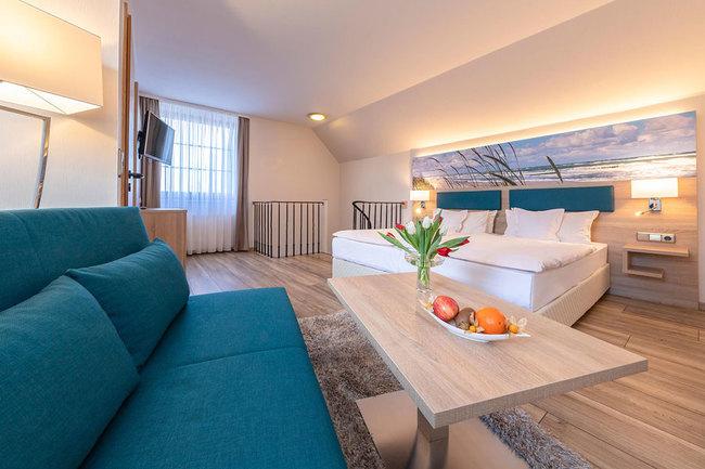 zweigeschossige Suite - Schlafraum