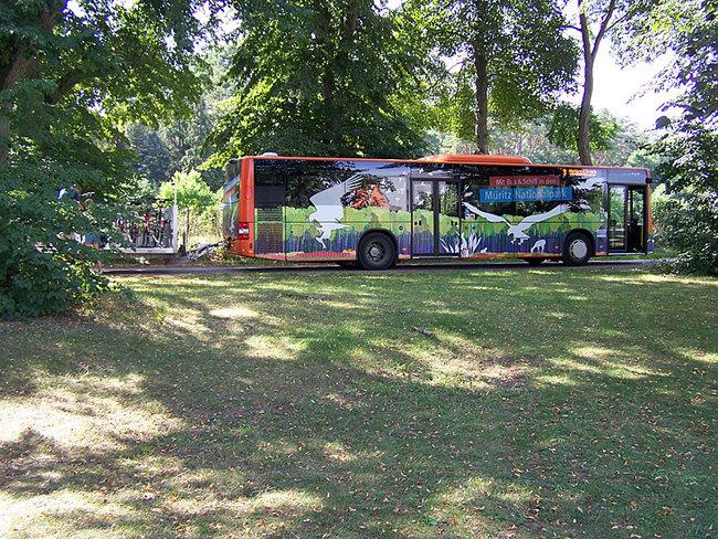 Bus des Nationalpark-Ticket
