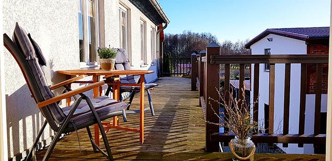 Balkon der kleinen Ferienwohnung