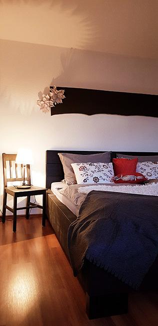Schlafzimmer in der kleinen Fewo