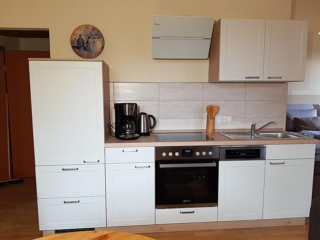 Fewo 9 - Wohnraum mit Küchenzeile