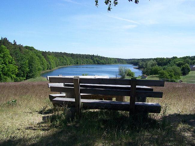 herrliche Aussicht auf den Bornsee