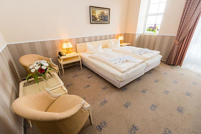 Wohnbereich Doppelzimmer 206