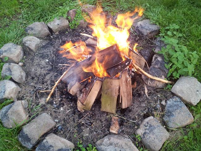 Feuerstelle am Ferienhof Waldeck