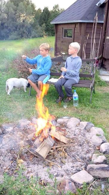 Feuerstelle auf den Ferienhof