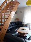 Wohnzimmer mit Ledercouch